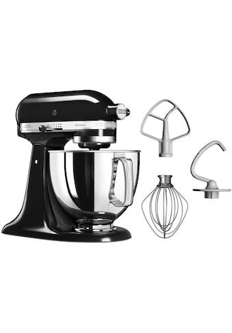 KitchenAid Küchenmaschine Artisan 5KSM125EOB Qnyx Schwarz, 300 Watt, Schüssel 4,8 Liter kaufen