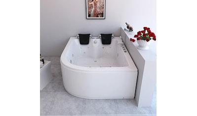 HOME DELUXE Whirlpool-Badewanne »Ancona XL«, B/T/H in cm: 180/120/65, rechts kaufen