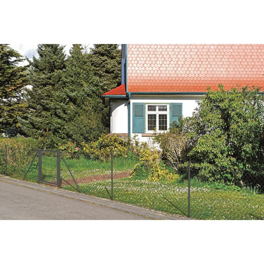 GAH Alberts Maschendrahtzaun, 100 cm hoch, 25 m, anthrazit beschichtet, zum Einbetonieren