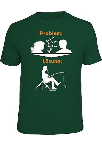 Rahmenlos T - Shirt mit coolem Front - Print kaufen