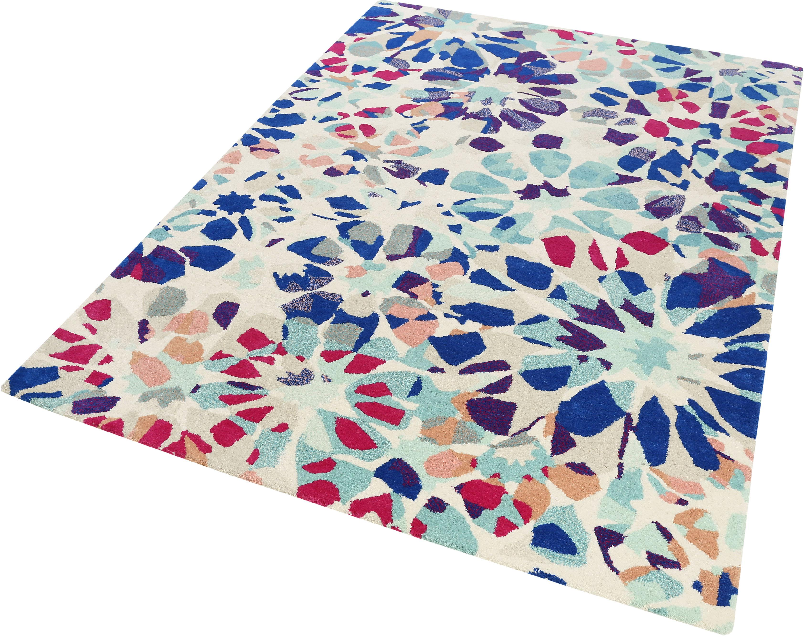 Wollteppich Kaleidoscopes Accessorize Home rechteckig Höhe 16 mm handgetuftet