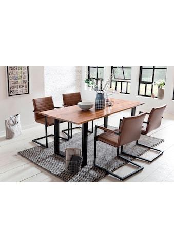 SalesFever Essgruppe, (Set, 5 tlg.), mit modernem Holztisch mit Kufengestell, 160 cm kaufen