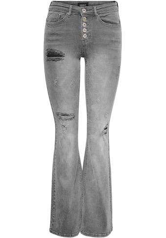 Only Bootcut-Jeans »ONLPAOLA HW RETRO FLARED«, mit Destroyed Details kaufen