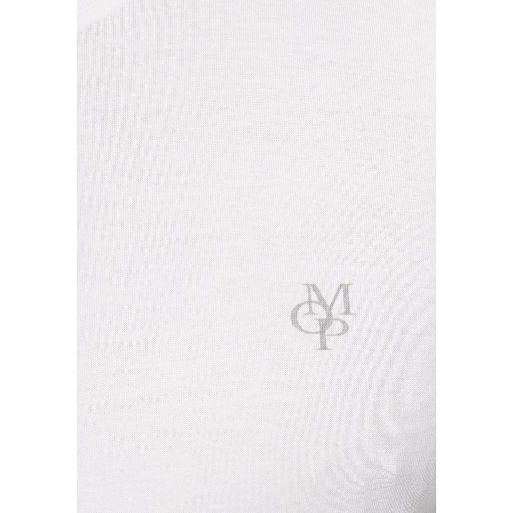 Marc O'Polo Langarmshirt, MOP-Print- Druck im Brustbereich