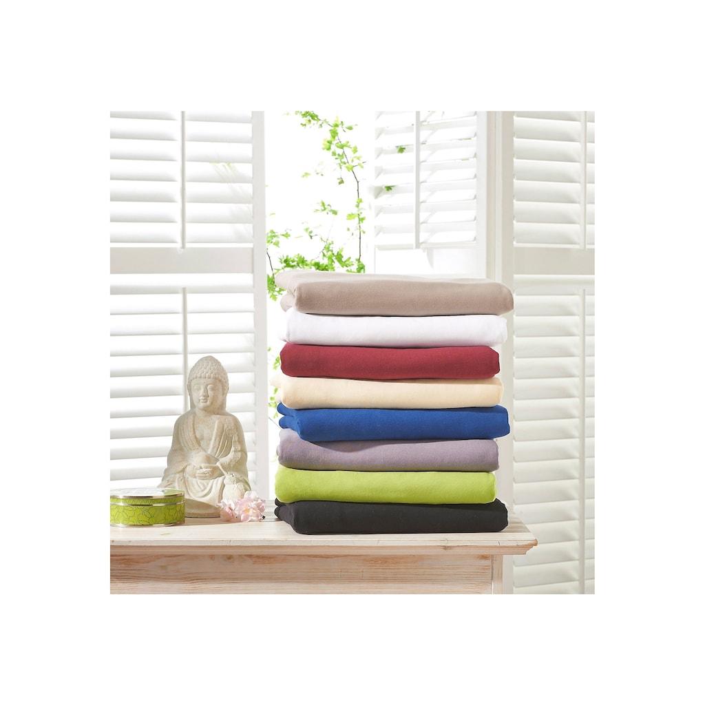 bellana Spannbettlaken »Premium-Stretch«, aus Mako-Jersey mit Elasthan für hohe Matratzen