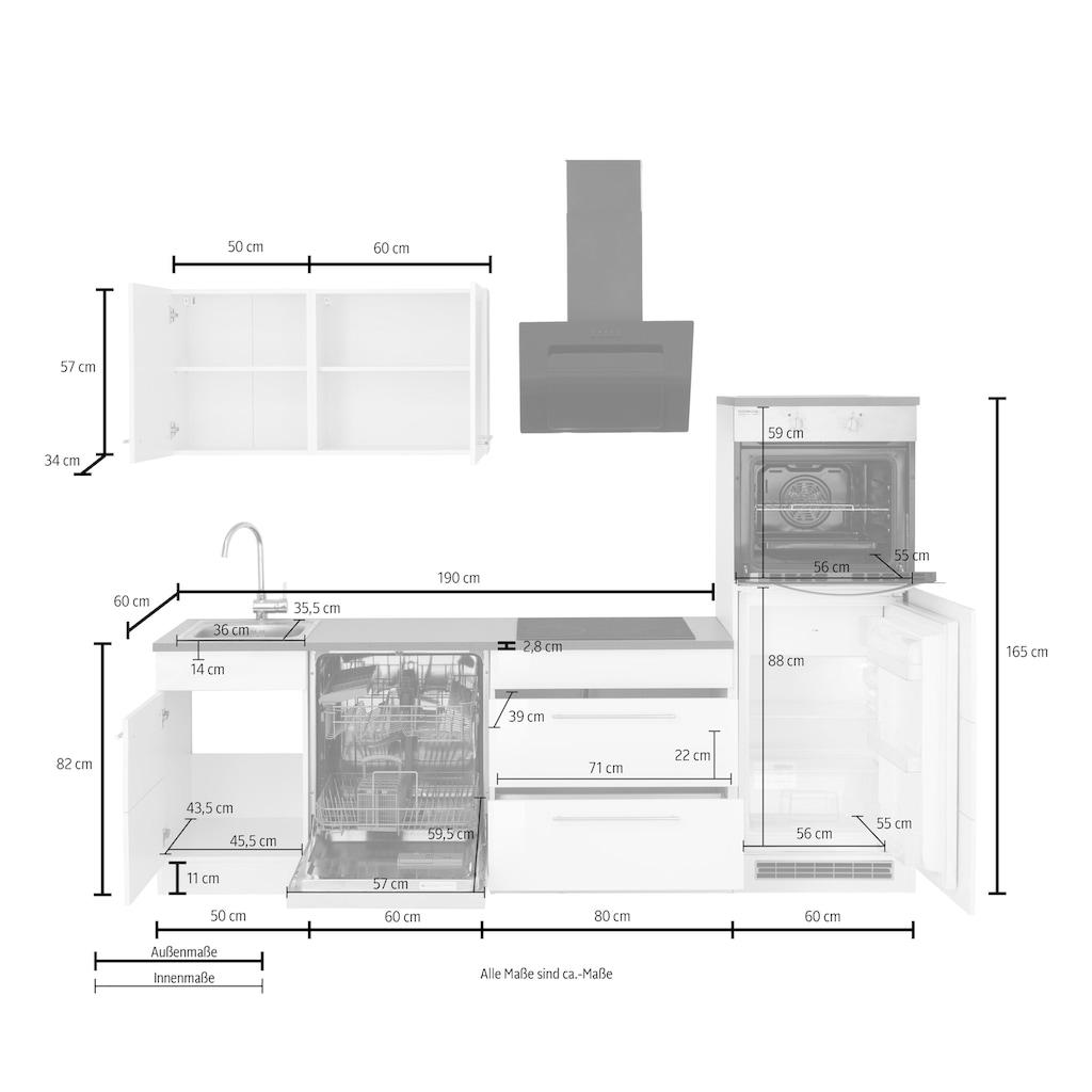 HELD MÖBEL Küchenzeile »Trient«, mit E-Geräten, Breite 250 cm