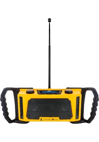 Schwaiger DAB+ Digitalradio tragbar, robustes Baustellenradio UKW/FM »AUX IPx4 wassergeschützt« kaufen