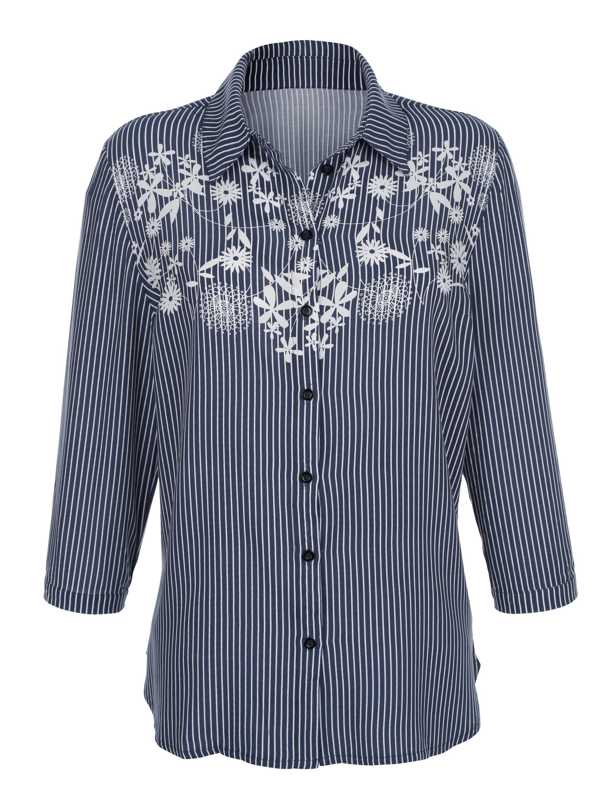 Dress In Bluse mit floralem Druck