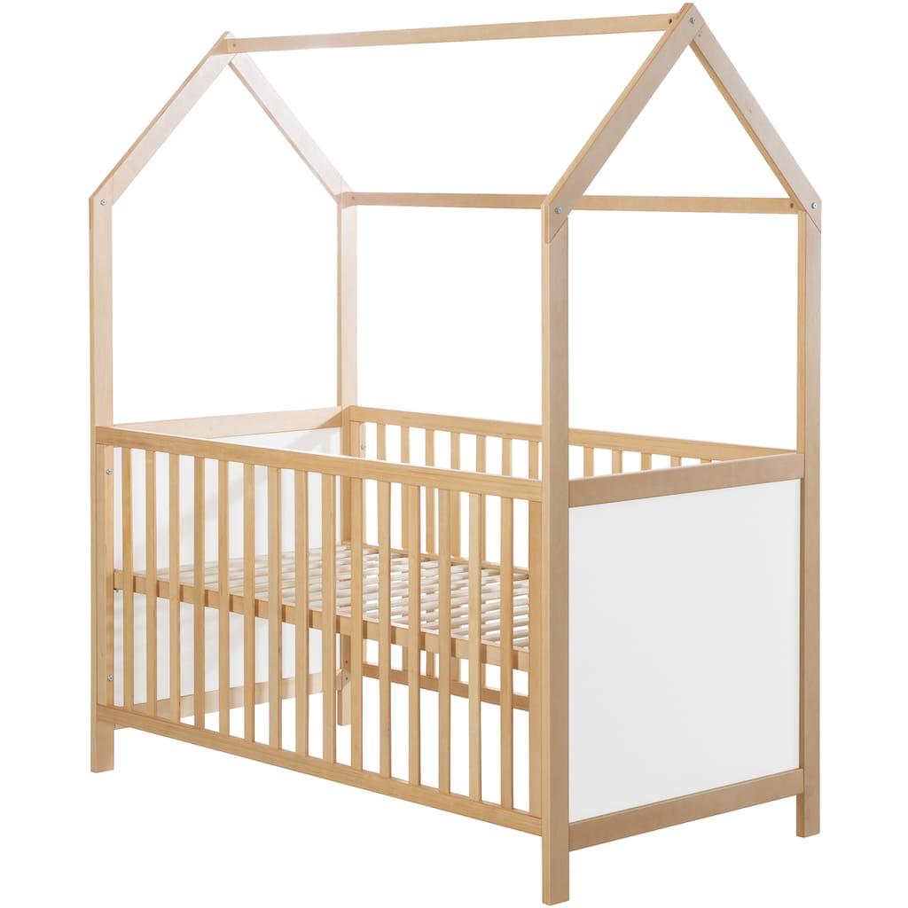 roba® Babybett »Hausbett 70/140, natur«, FSC®-Holz aus gewissenhaft bewirtschafteten Wäldern