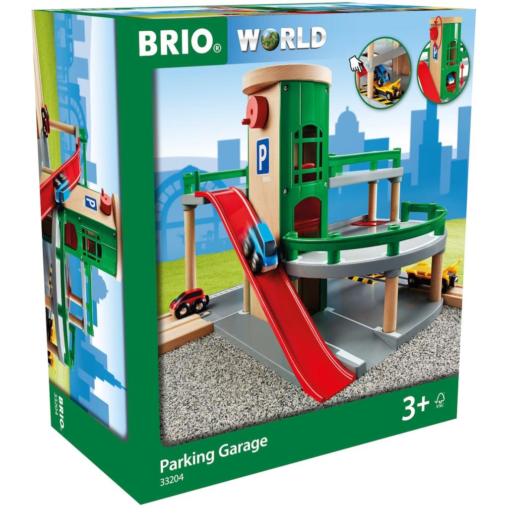 BRIO® Spiel-Parkhaus »Brio WORLD Parkhaus, Straßen & Schienen«, FSC®-Holz aus gewissenhaft bewirtschafteten Wäldern