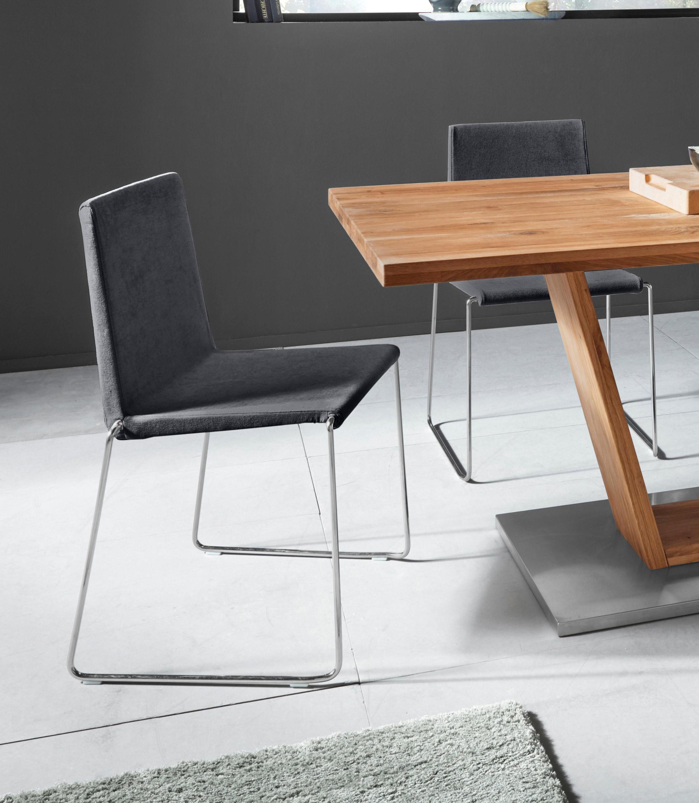 Places of Style Stuhl Hannah (2er Set), mit weicher Luxus Microfaser oder Kunstleder