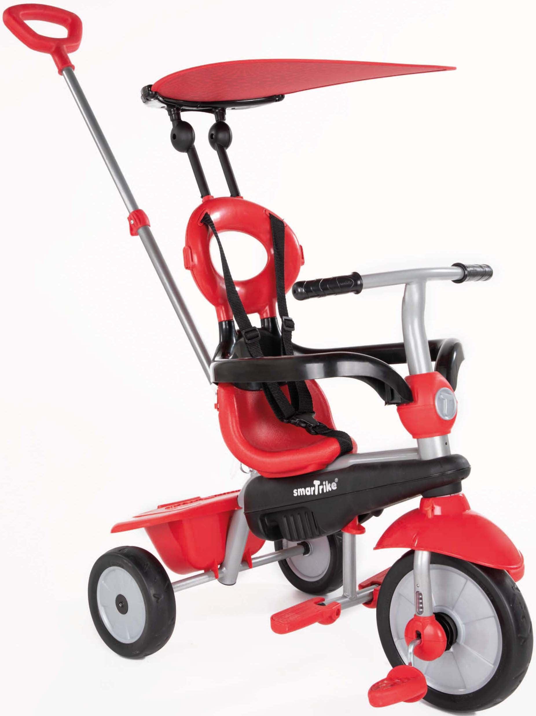 smarTrike Dreirad Zoom, Rot, mit Sonnenschutzdach rot Kinder Dreiräder Kinderfahrzeuge