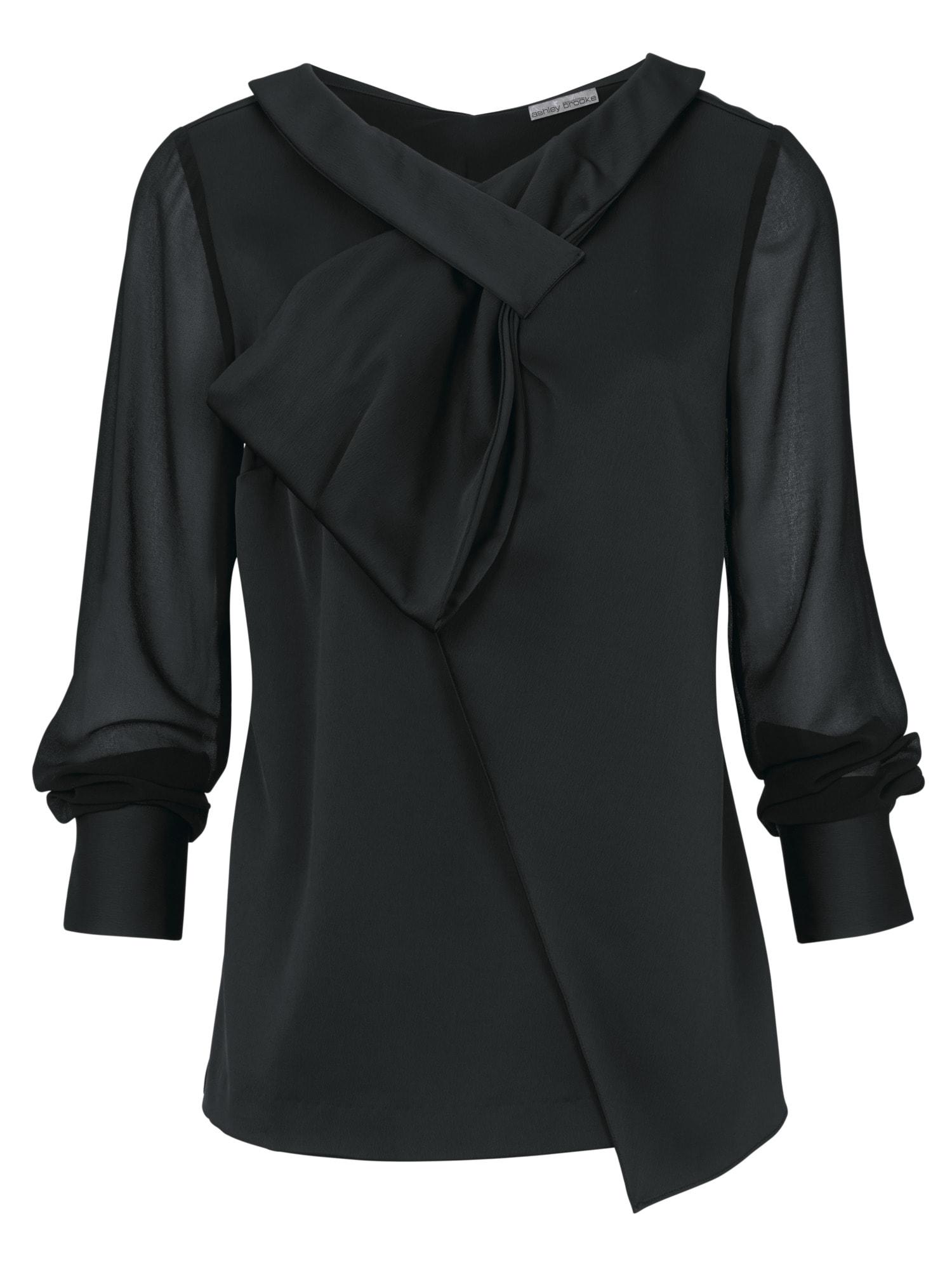 heine TIMELESS Bluse mit transparenten Ärmeln