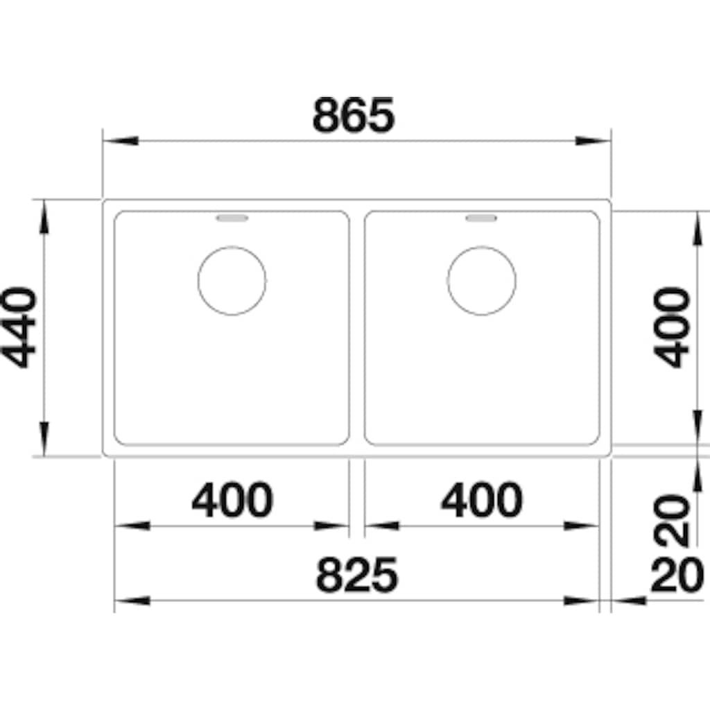Blanco Küchenspüle »ANDANO 400/400-IF«