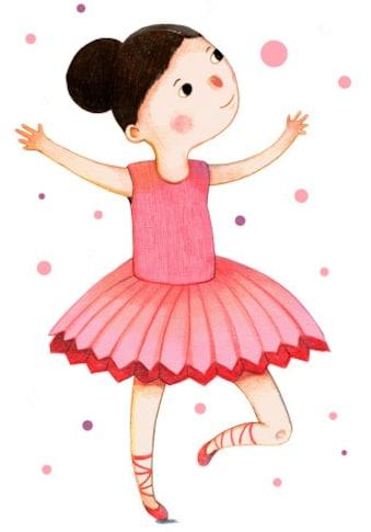 Wall-Art Wandtattoo »Tanzende Ballerina Rosa Rot« kaufen
