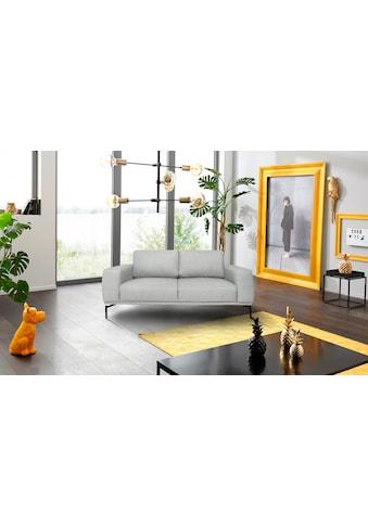 INOSIGN 2-Sitzer »Elina«, mit Metallbeinen, aus Struktur (Polyester) Bezug kaufen