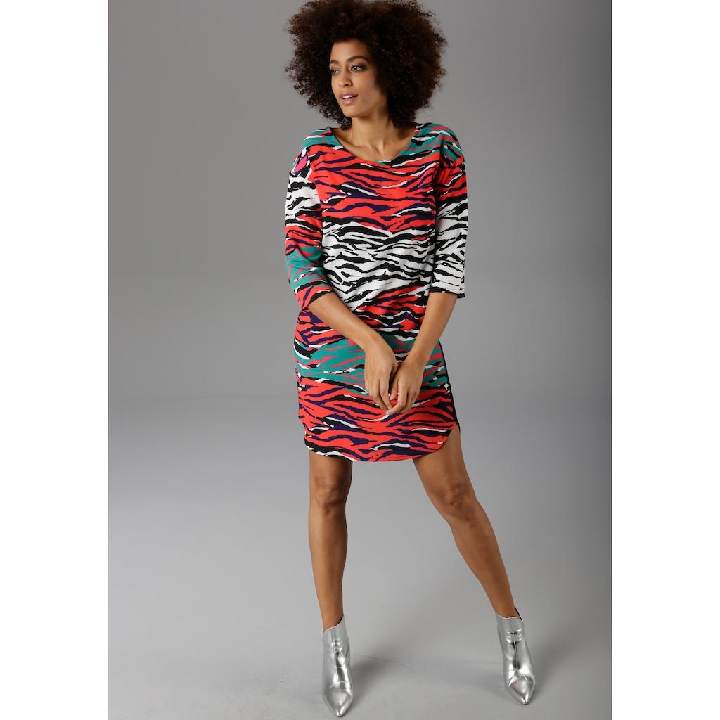 Aniston CASUAL Sommerkleid, mit bunten Zebra-Druck - NEUE KOLLEKTION