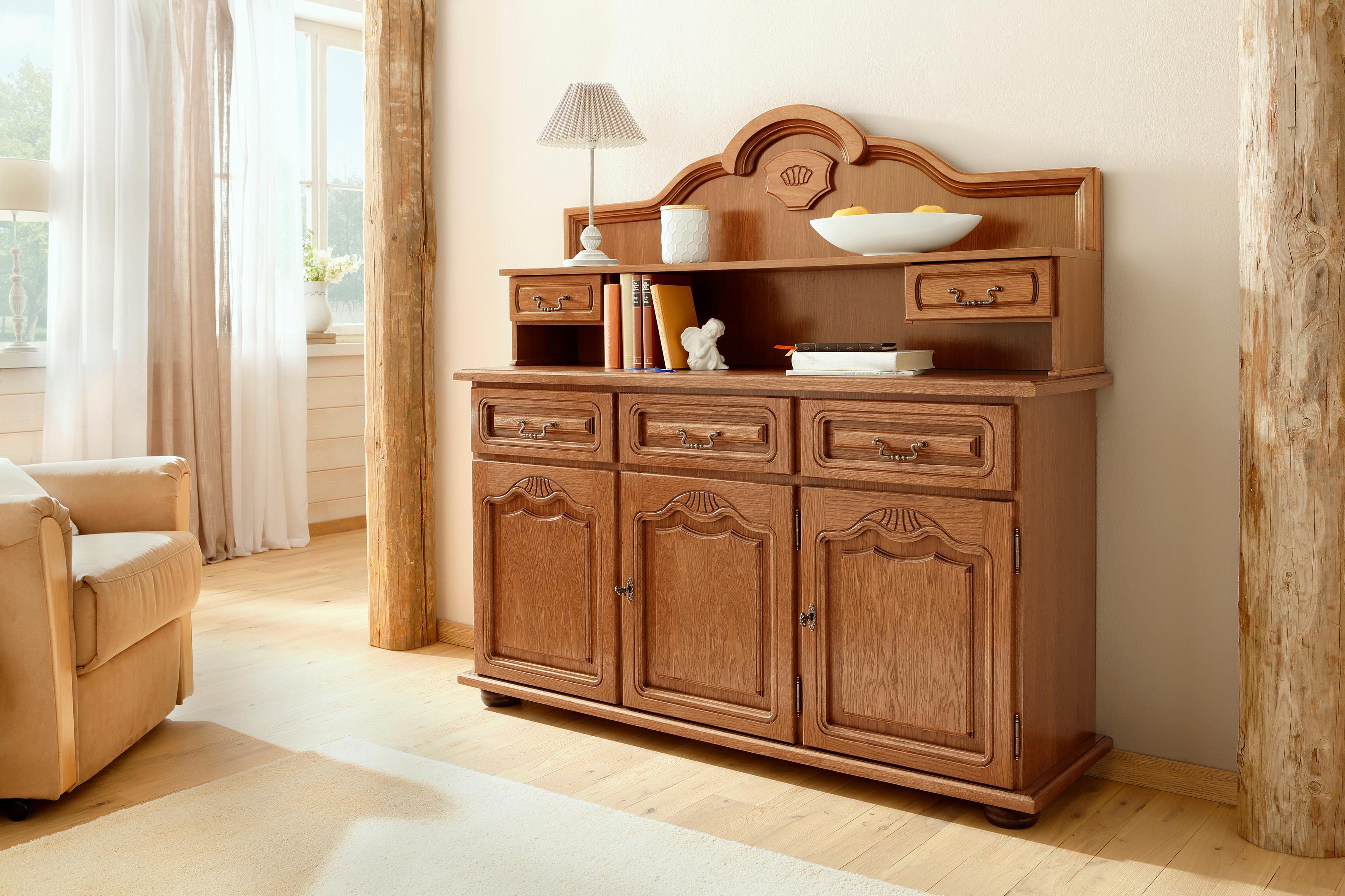 Home affaire Sideboard 3trg Hans Breite 139 cm im rustikalen Landhausstil
