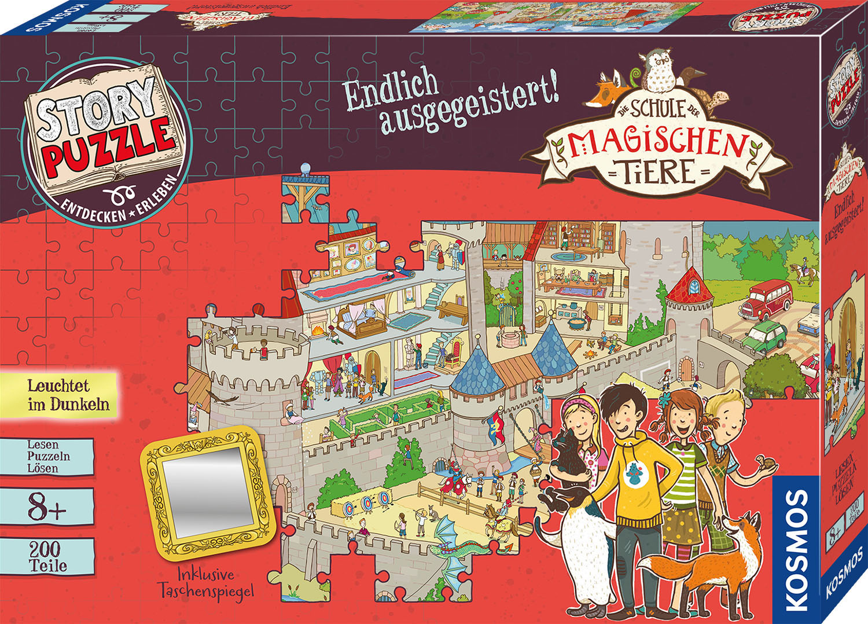 Kosmos Puzzle Story Puzzle: Die Schule der magischen Tiere, Endlich Ausgegeistert, mit Leuchteffekt; Made in Germany bunt Kinder Ab 6-8 Jahren Altersempfehlung Puzzles