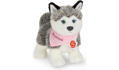 Teddy Hermann® Kuscheltier »Husky mit rosa Halstuch, 23 cm«, mit individueller Bestickung kaufen