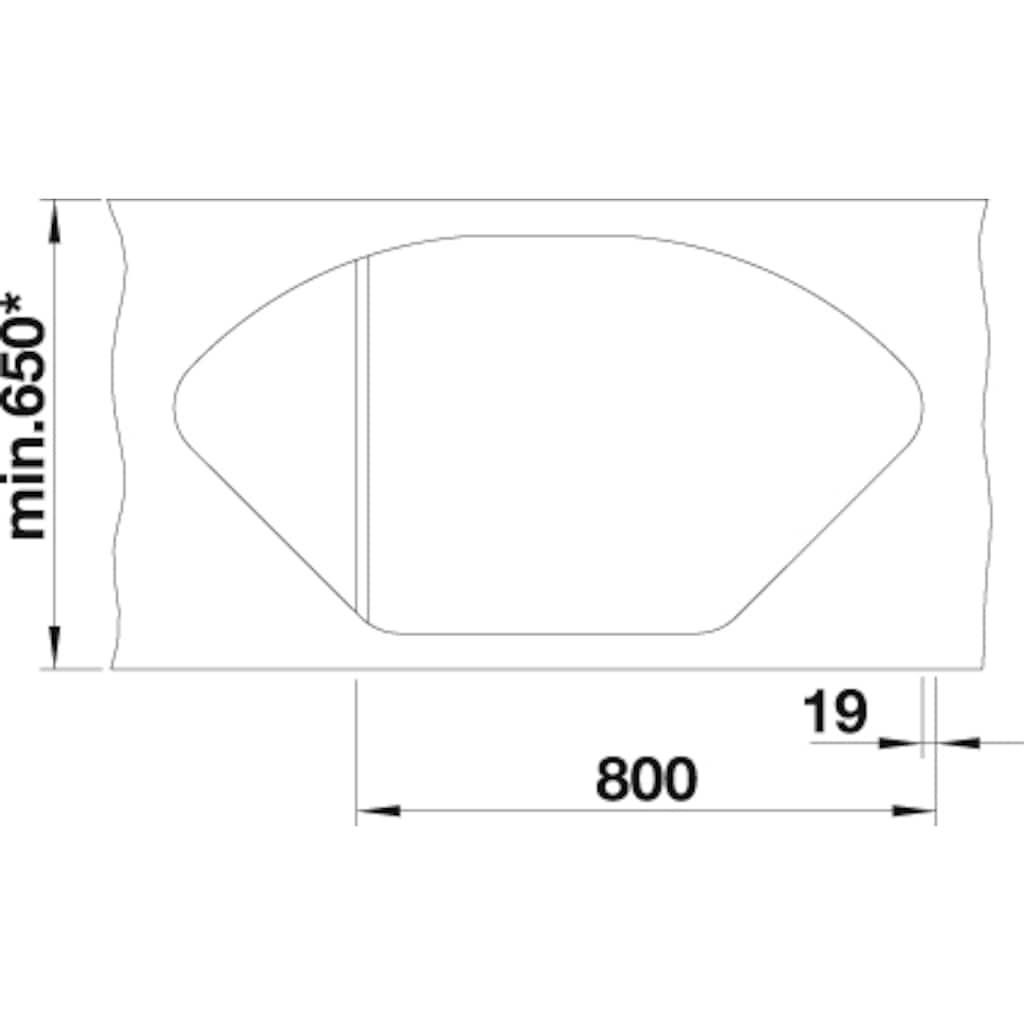 Blanco Granitspüle »DELTA II«, aus SILGRANIT®