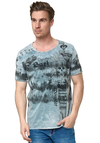 Rusty Neal T-Shirt, in lässiger Batik-Optik kaufen