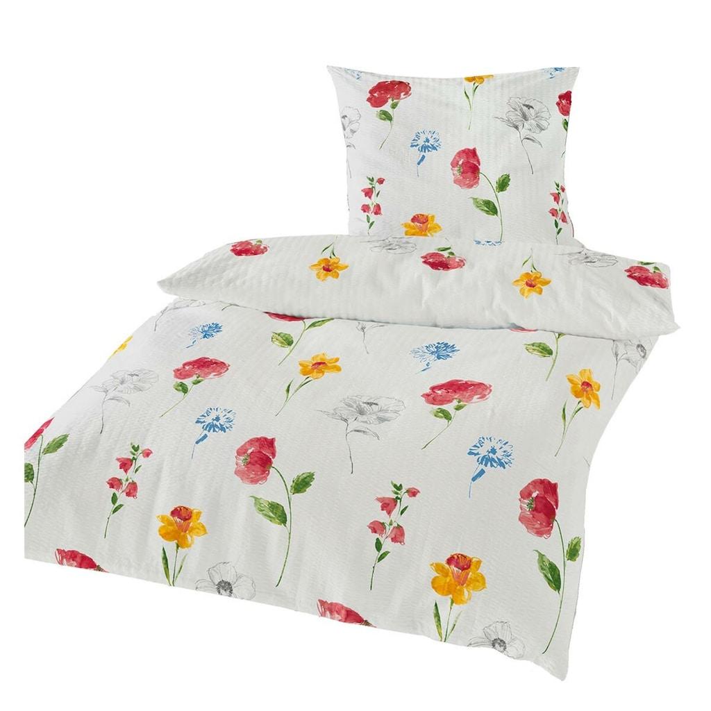 TRAUMSCHLAF Bettwäsche »Sommertraum«, bügelfreie florale Sommerwäsche