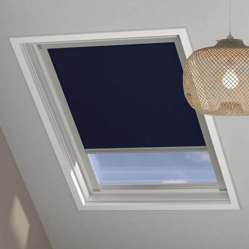 my home Dachfensterrollo »Sky-Rollo«, verdunkelnd, energiesparend, in Führungsschienen, Dachfenster-Rollo mit Kassette und Seitenprofilen