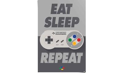Reinders! Poster »Super Nintendo Eat, sleep, repeat«, (1 St.) kaufen