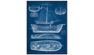 Artland Glasbild »Entwurf für ein Antikes Schiff II« kaufen