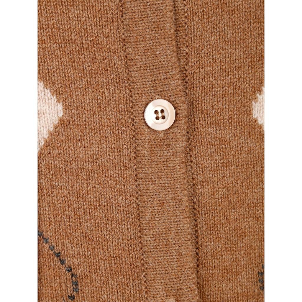 Mona Strickjacke aus reiner Schurwolle
