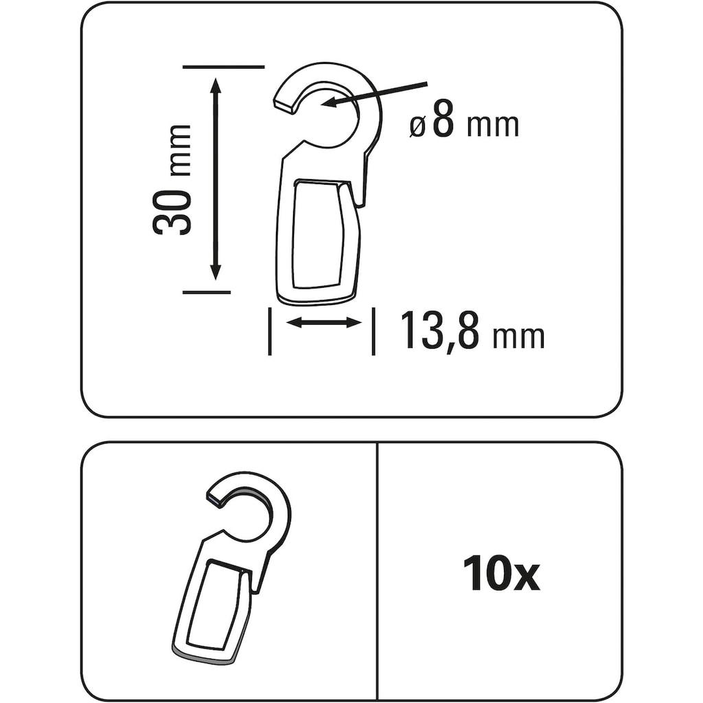GARDINIA Faltenlegehaken »Faltenlegehaken POM-Qualität«