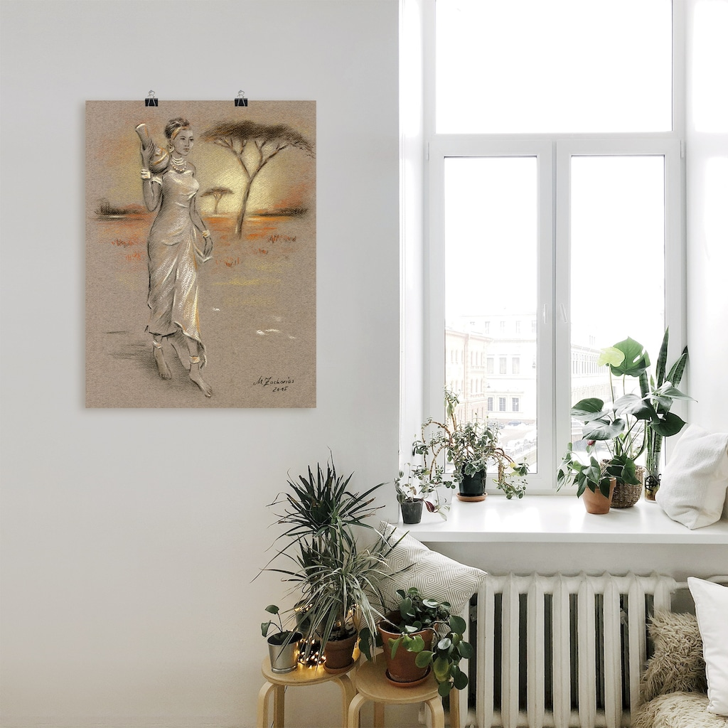 Artland Wandbild »Afrikanische Schönheit«, Frau, (1 St.)