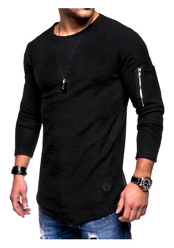 behype Sweatshirt »JESPER«, mit cooler Armtasche kaufen