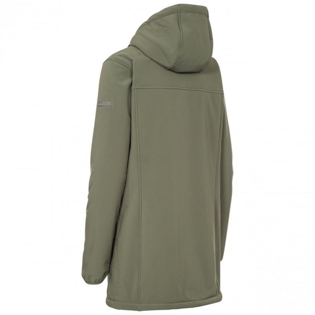 Trespass Outdoorjacke »Damen Jacke Kristen, mit Kapuze, wasserdicht, längere Länge«
