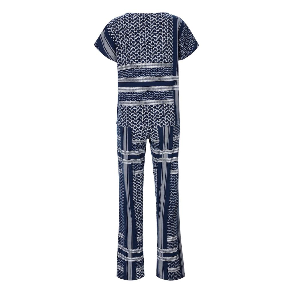 s.Oliver Bodywear Pyjama, mit Allover-Druck