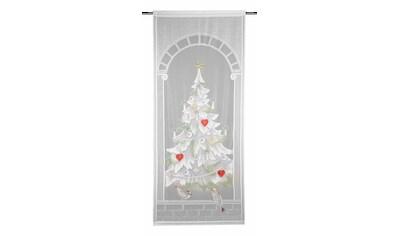 WILLKOMMEN ZUHAUSE by ALBANI GROUP Vorhang »Christbaum«, HxB: 225x100, Jacquard-Fensterbild kaufen