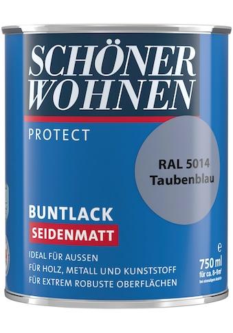 SCHÖNER WOHNEN-Kollektion Lack »Protect Buntlack«, seidenmatt, 750 ml, taubenblau RAL 5014 kaufen