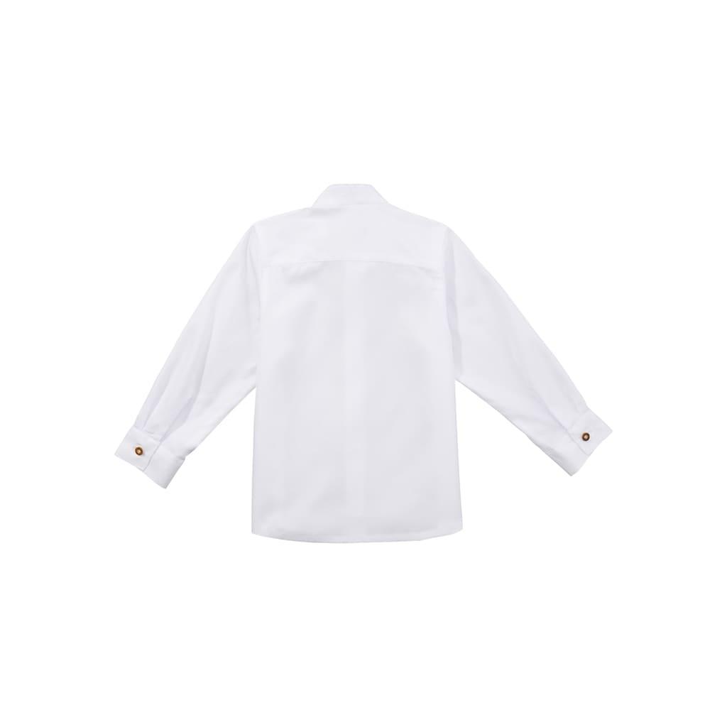 OS-Trachten Trachtenhemd, mit Stehkragen und Riegel