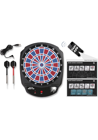 Sunflex Dartscheibe »SMART TEC«, (Packung, 28, mit Dartpfeilen), Bluetooth gesteuerte, elektronische Dartscheibe kaufen