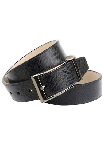 Anthoni Crown Ledergürtel, Klassischer Ledergürtel mit leichter Struktur kaufen
