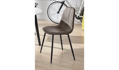 INOSIGN Esszimmerstuhl »Blackburn«, aus pflegeleichtem Kunstleder und Metallbeinen, in 2 verschiedenen Farbvarianten, Sitzhöhe 49 cm kaufen