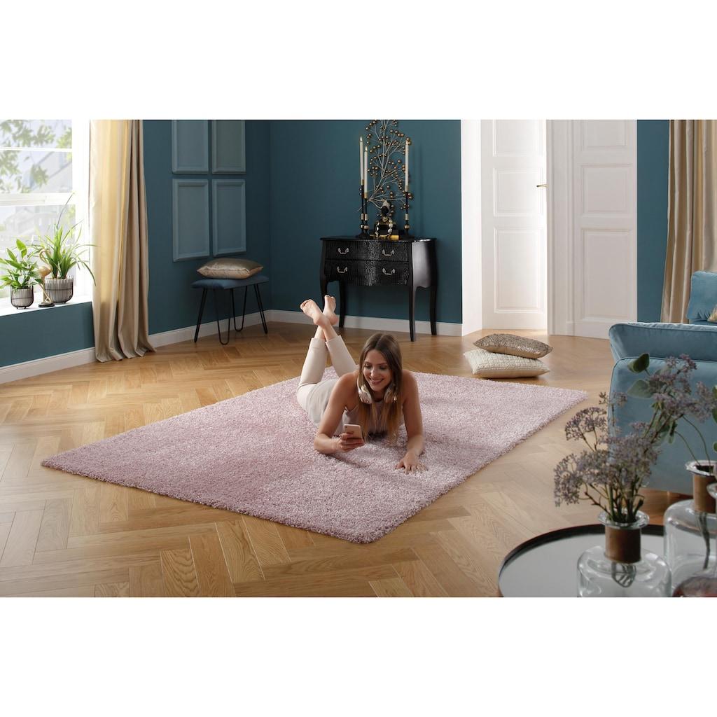 Leonique Hochflor-Teppich »Floris«, rechteckig, 30 mm Höhe, Besonders weich durch Microfaser, Wohnzimmer