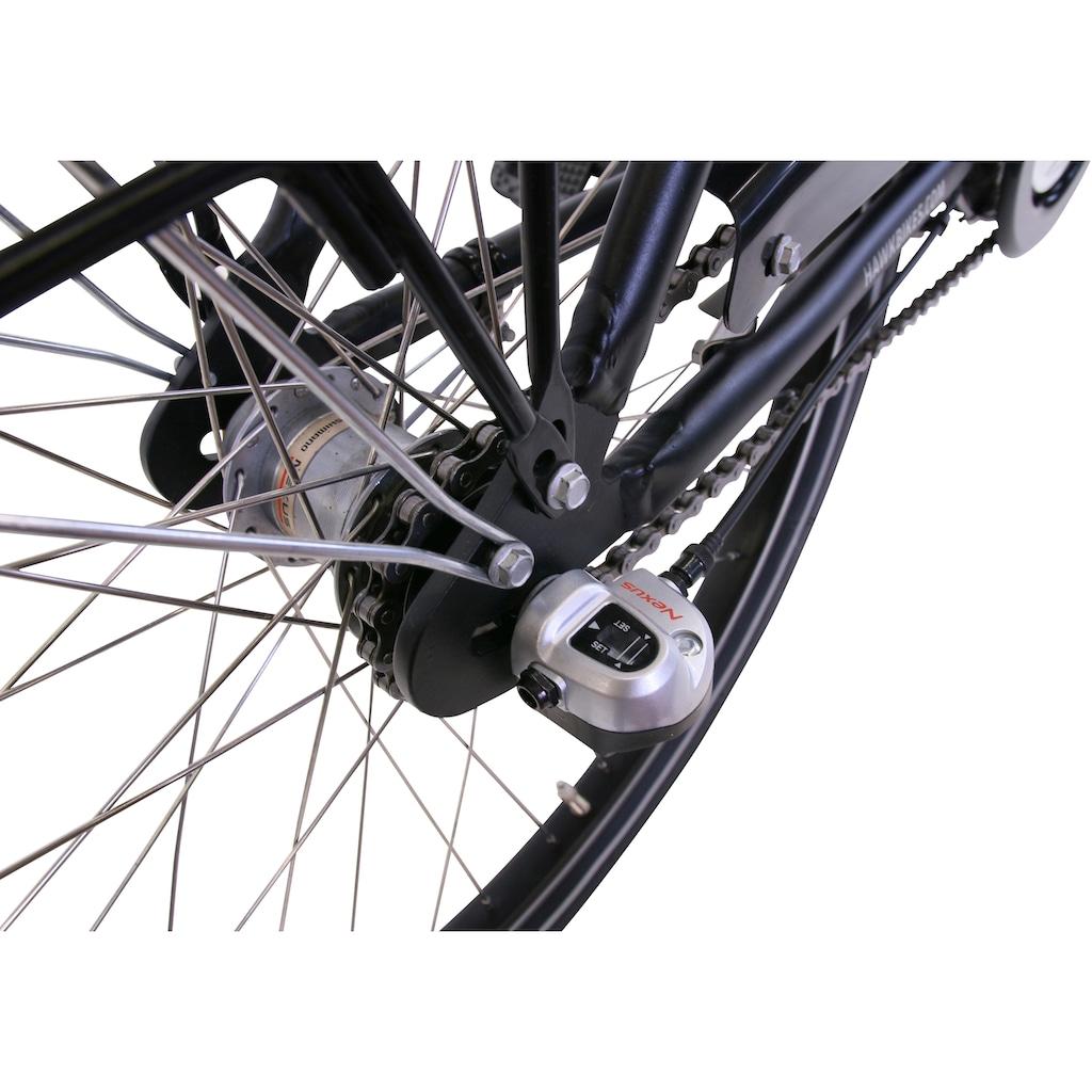 HAWK Bikes Cityrad »HAWK City Comfort Premium Black«, 3 Gang, Shimano, Nexus Schaltwerk