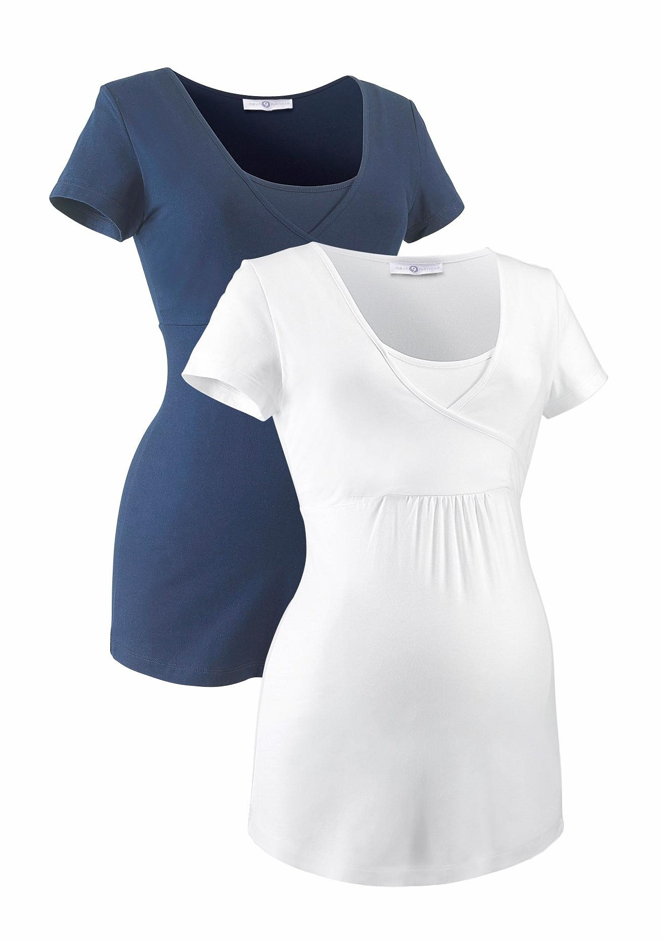 Neun Monate Umstandsshirt (Packung 2 tlg) | Bekleidung > Umstandsmode > Umstandsshirts | Blau | Neun Monate