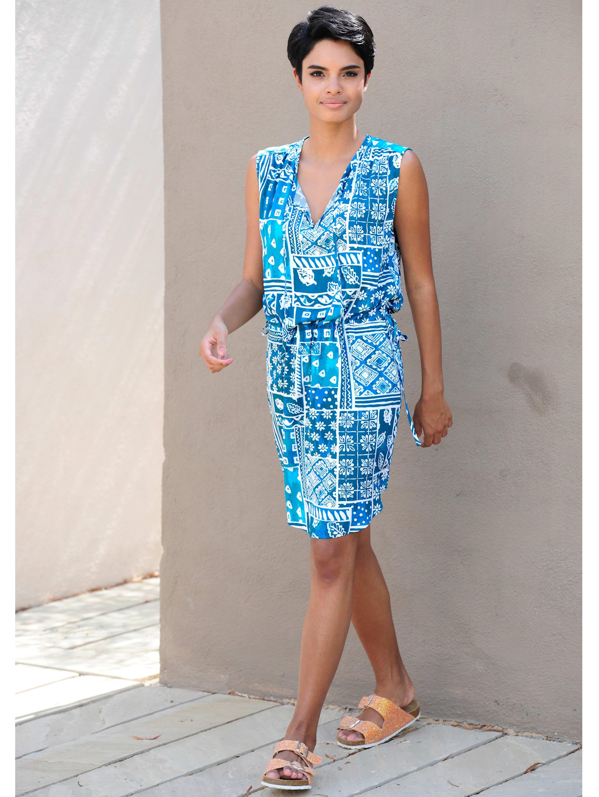Alba Moda Strandkleid mit Bindeband Damenmode/Bekleidung/Kleider/Knielange Kleider