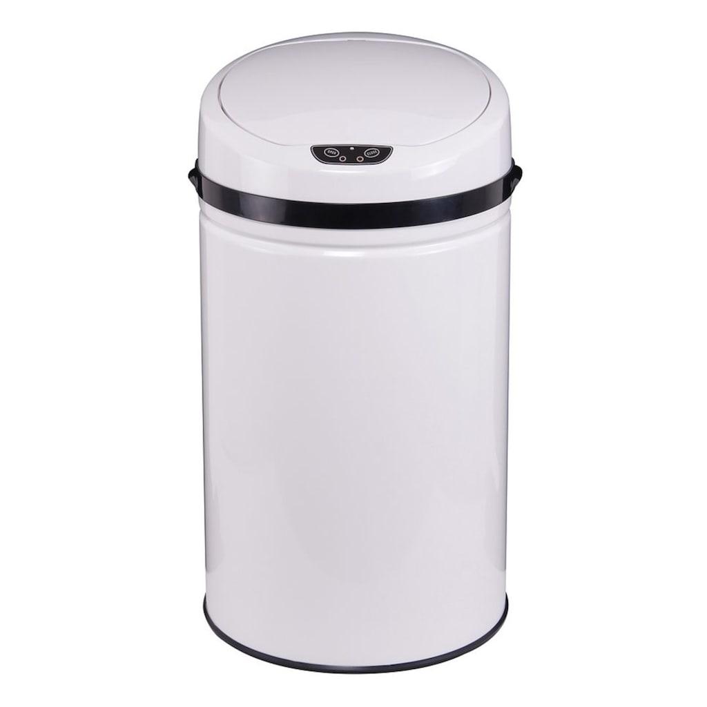 ECHTWERK Mülleimer »INOX WHITE«, Infrarot-Sensor, Fassungsvermögen 42 Liter