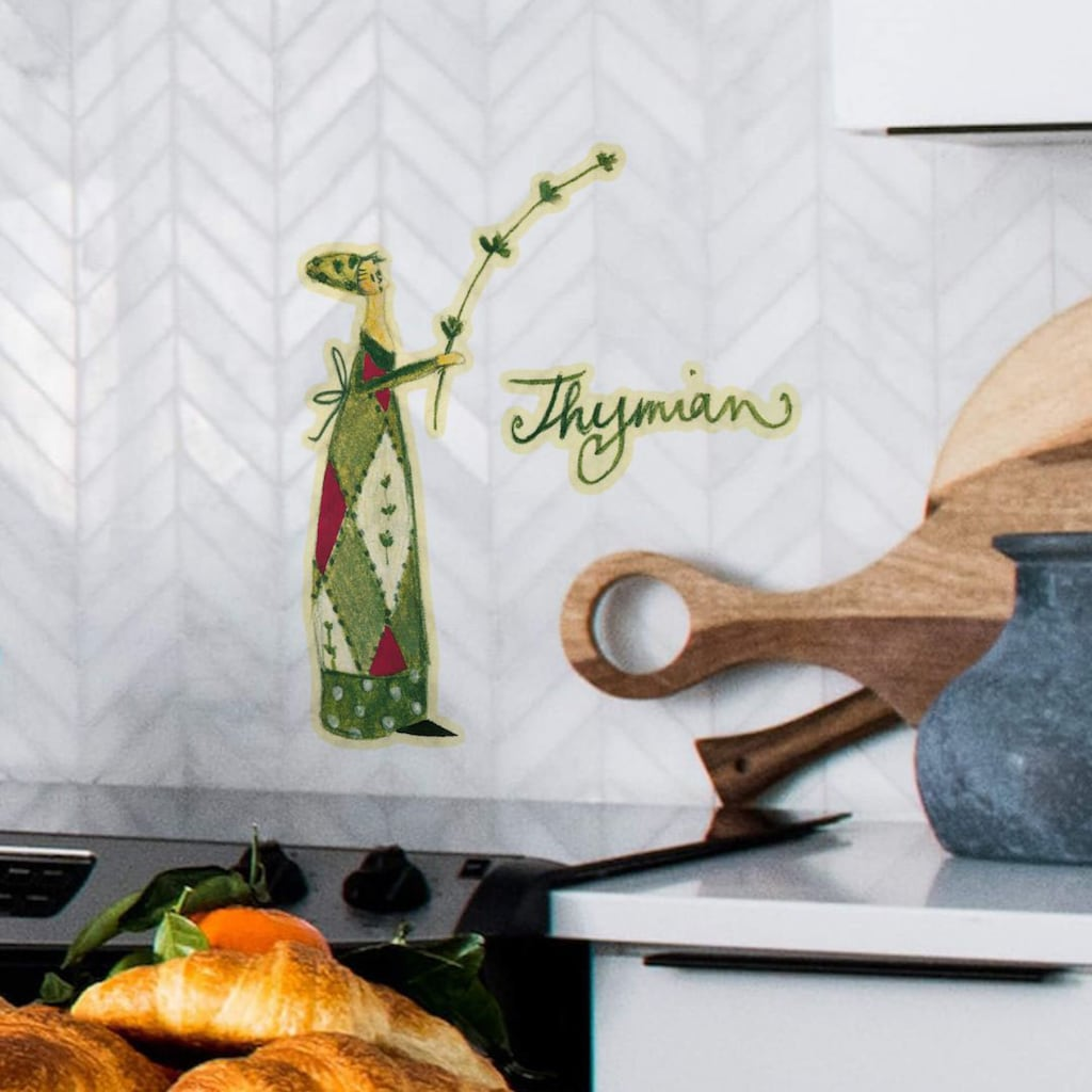 Wall-Art Wandtattoo »Kräuter Küche Thymian Grün«