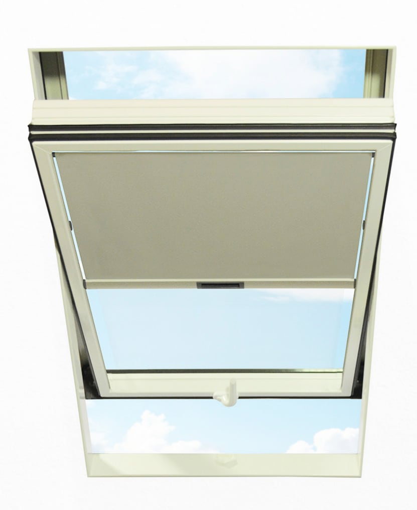 RORO Türen & Fenster Dachfensterrollo, Lichtschutz grau Dachfensterrollos Rollos Jalousien Dachfensterrollo