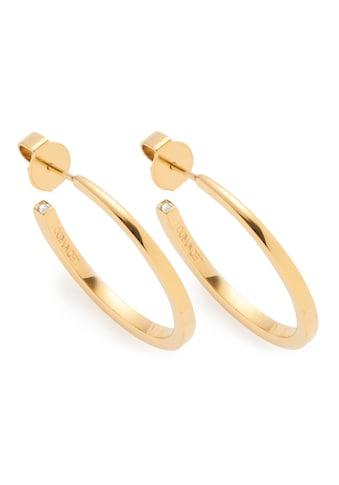 CIAO! BY LEONARDO Paar Creolen »Biggi gold CIAO, 018216«, mit Kristallsteinen kaufen
